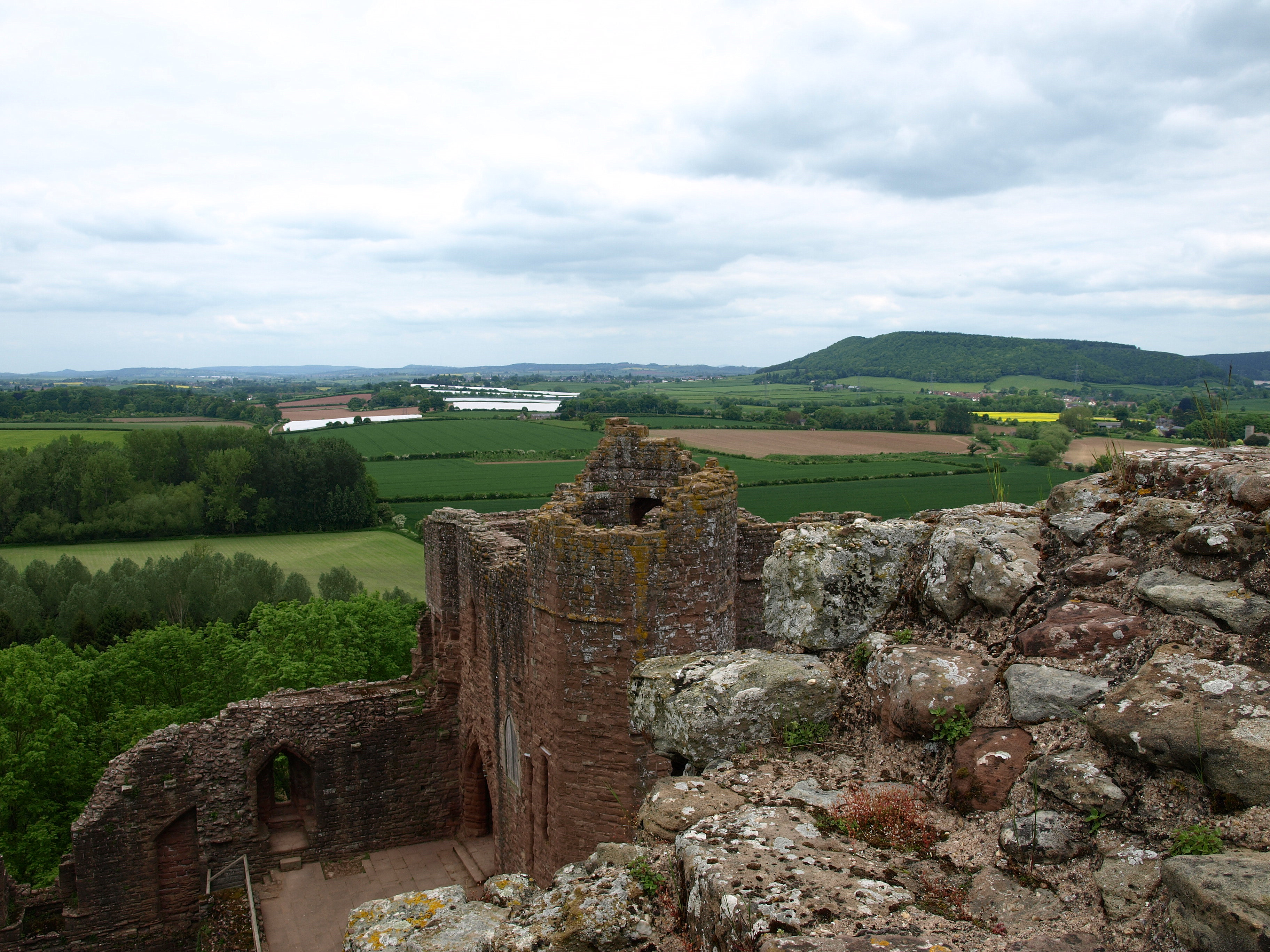 View of the Countryside and Chapel From Atop the Norman Keep