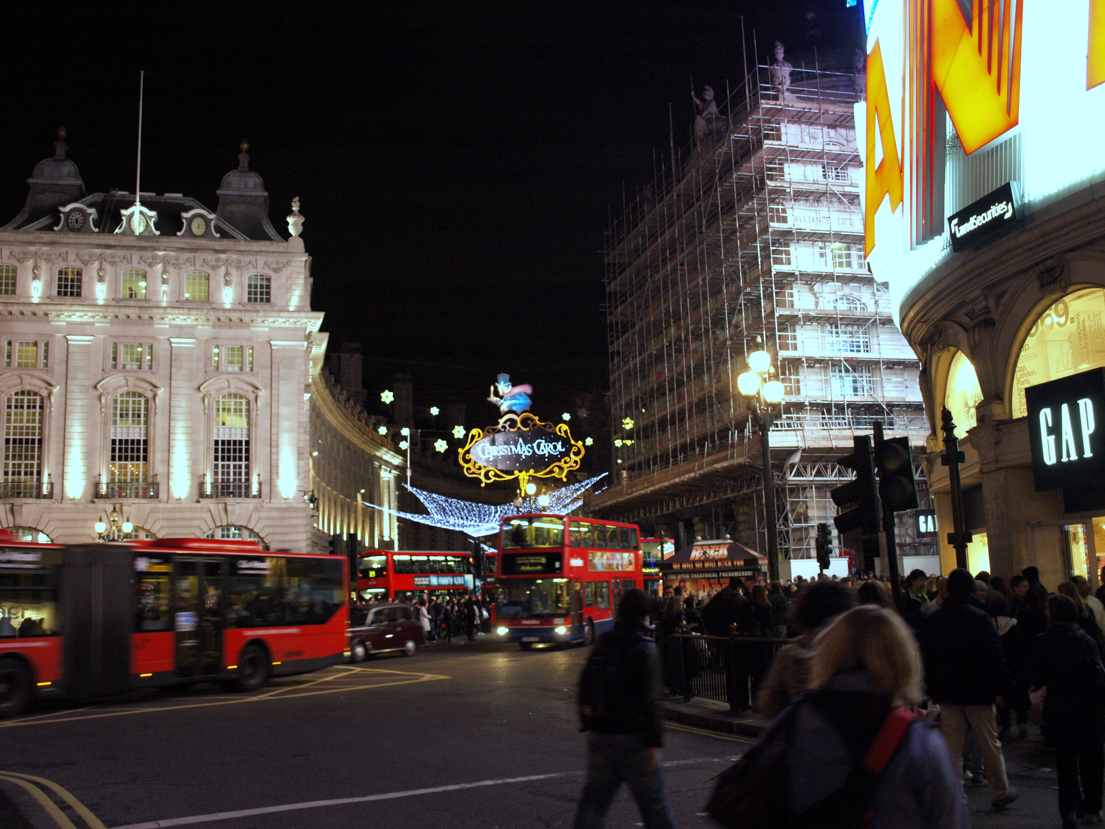 Picadilly Circus on a Busy Friday Night