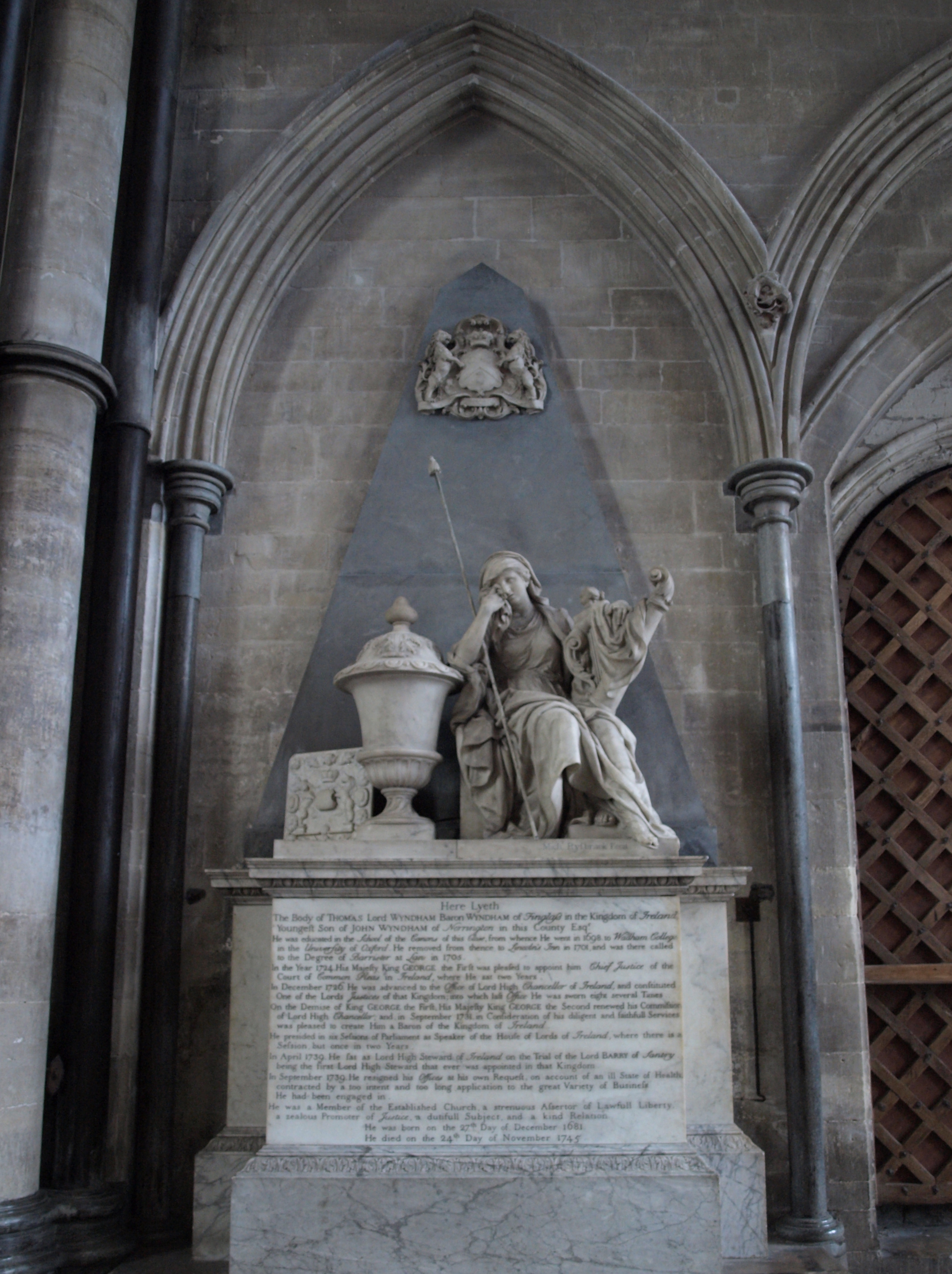 Memorial to Thomas Lord Wyndham, Baron of Wyndham